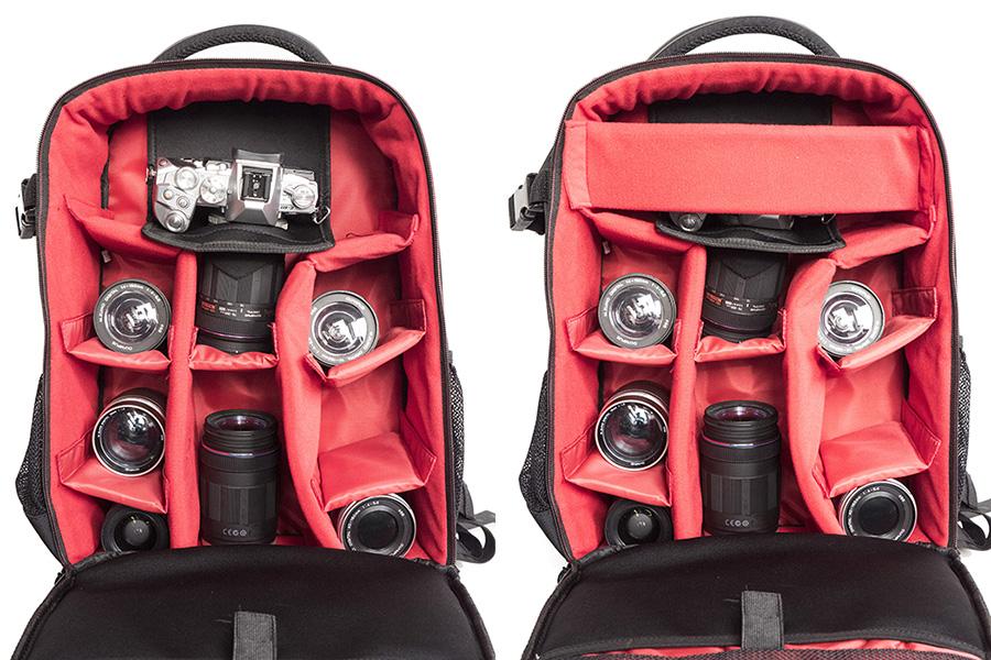 fcb7deabe0b5 A fekete lebbencs a fényképezőgép biztonságáról gondoskodik: fűzzük át  rajta az objektívet, mint a fenti képen, és a táska kinyitásakor sem kell  attól ...